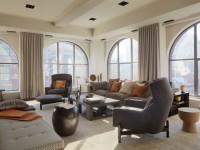Серые шторы в интерьере — 75 фото красивого сочетания