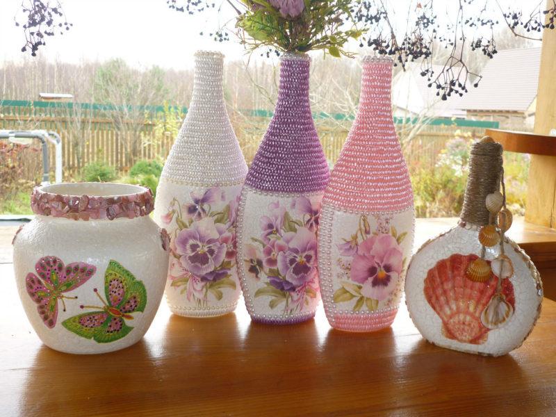 Декор ваза с цветами своими руками