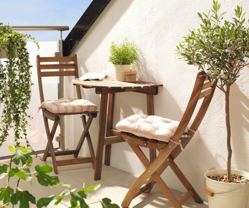 Стол и стул на балкон своими руками 997