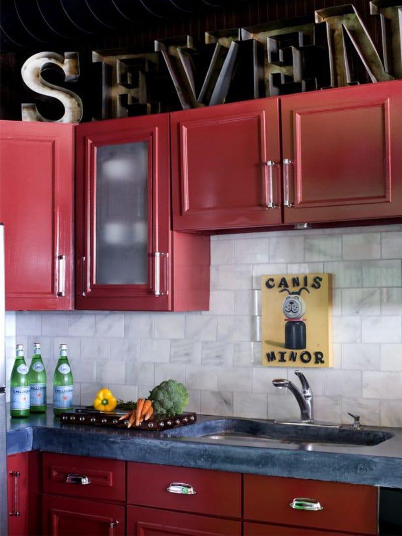 Как обновить своими руками старый кухонный гарнитур