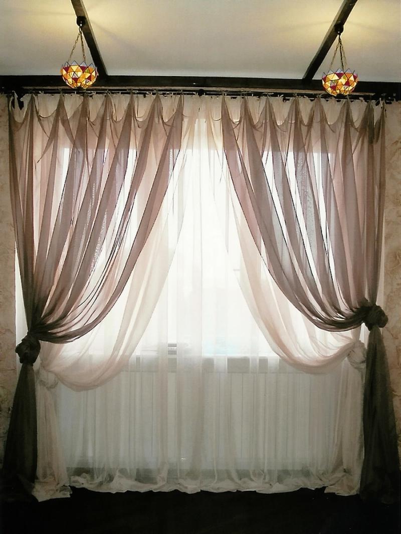 Фото идей тюль и шторы 15