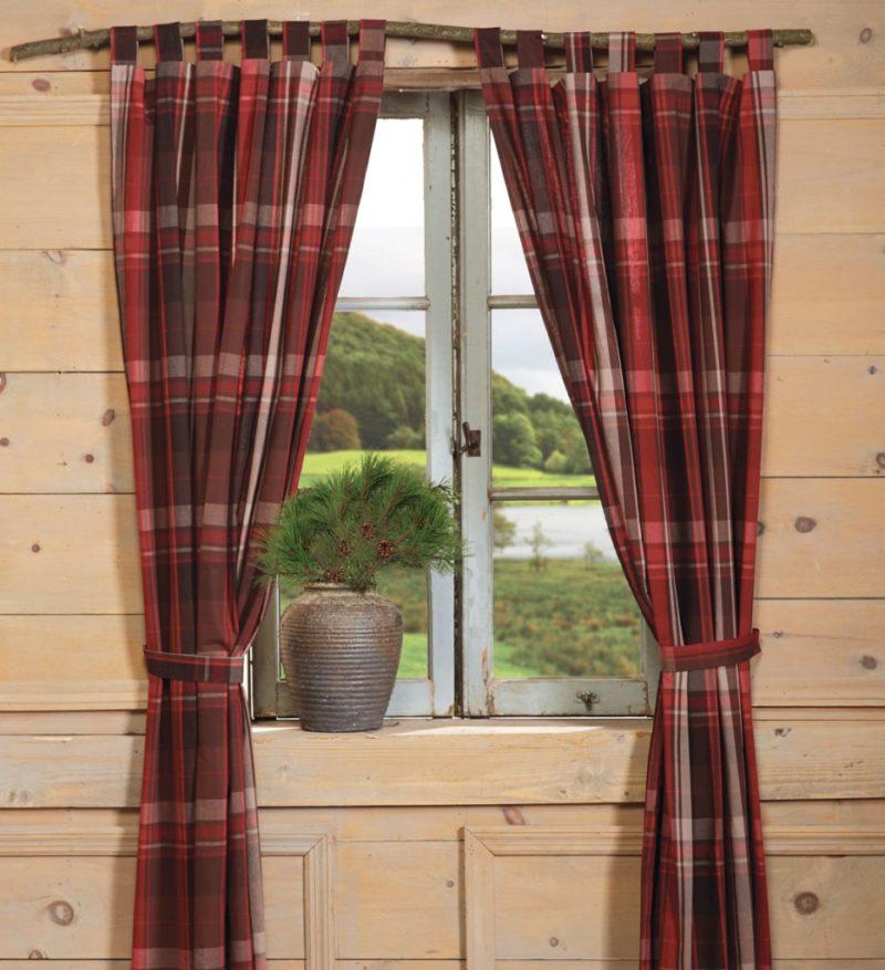 для деревенских окон шторы фото