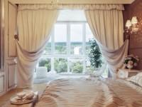 Кремовые шторы в интерьере — 80 фото оригинальных идей дизайна
