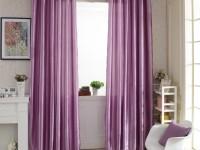 Лиловые шторы — 70 фото лилового цвета штор в интерьере