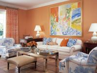 Оранжевые шторы — правила сочетания в интерьере (90 фото)