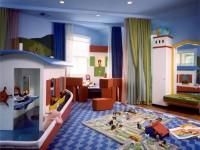 Голубая детская комната — особенности дизайна, 75 фото вариантов
