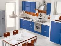 Кухня синего цвета — как сочетать синие оттенки на кухне (70 фото)