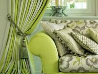 Зеленые шторы — 70 фото уютного дизайна с шторами зеленого цвета