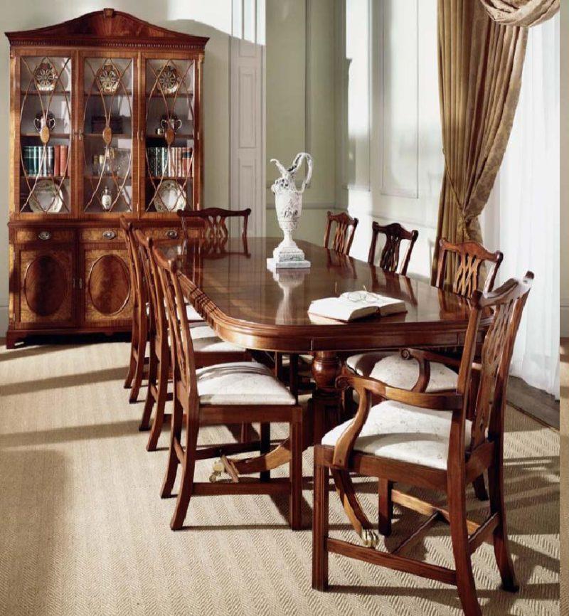 стол дубовый в стиле классицизм фото