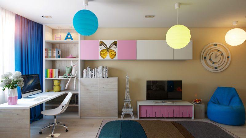 Люстра в детскую комнату способ освещения и предмет интерьера